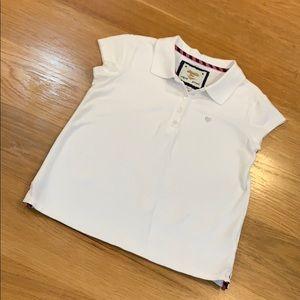 Cute Gap Polo White Shirt Girls👚 Size L Ages 8-12